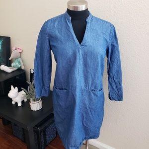 Zara Basics Sz S Denim Couture dress mini